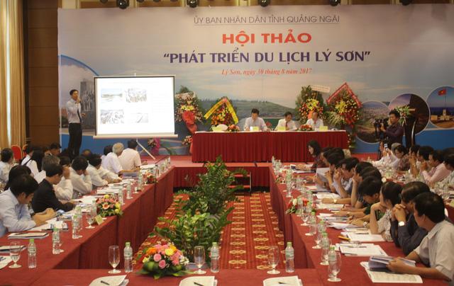 Nhiều ý kiến tâm huyết nhằm phát triển du lịch Lý Sơn bền vững đã được trình bày tại Hội thảo Phát triển du lịch Lý Sơn.
