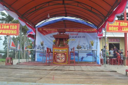 Khánh thành phục dựng Lăng Chánh trong khuôn viên Đình làng An Hải.