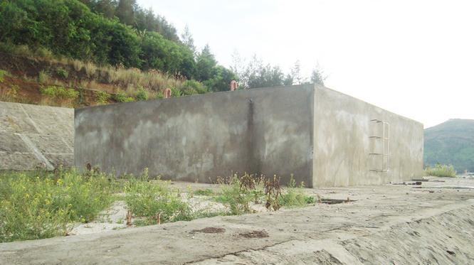 Công trình cung cấp nước sinh hoạt ở Lý Sơn vẫn chưa đi vào hoạt động sau 4 năm xây dựng.
