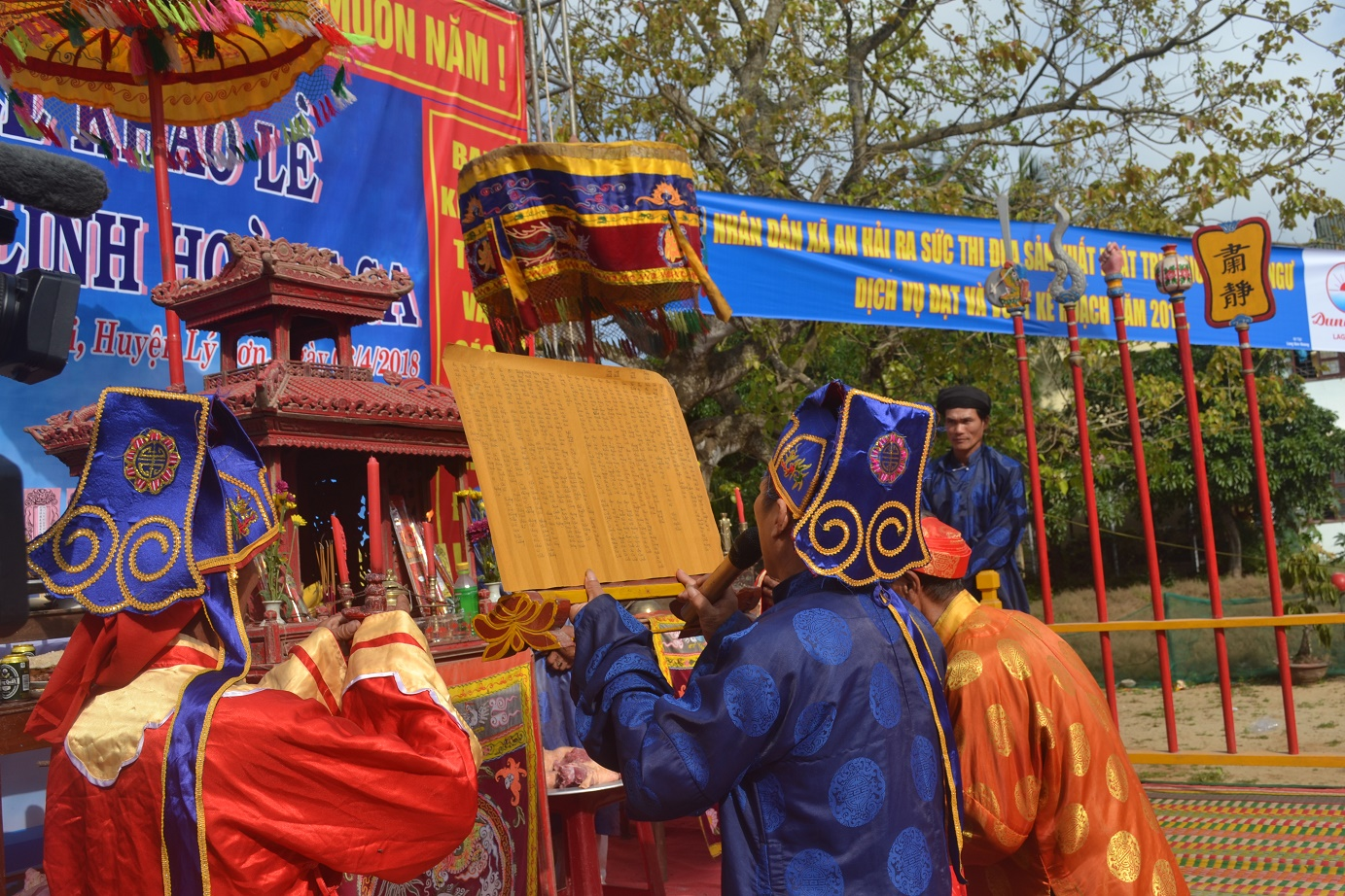 Các tộc hộ xã An Hải, huyện Lý Sơn làm lễ Lễ khao lề thế lính Hoàng Sa.