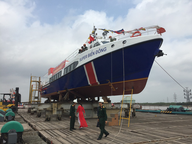 Super Biển Đông là con tàu đóng mới và hiện đại nhất đội tàu chở khách tại Lý Sơn