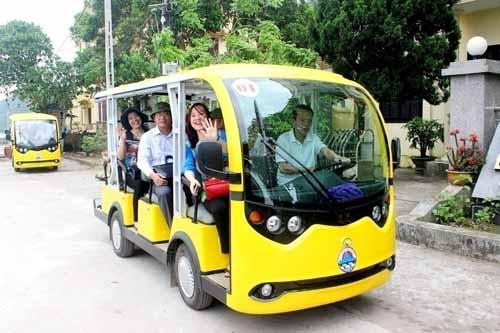 Xe điện thí điểm tại Lý Sơn của Công ty TNHH Ô-tô điện Đồi Vàng