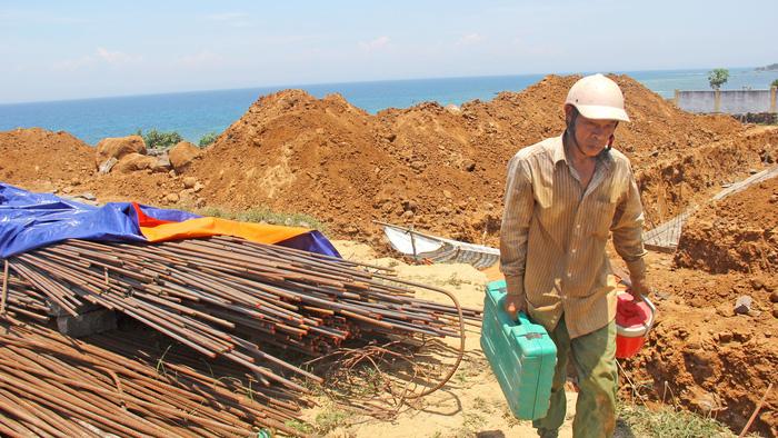 Nơi dự án khách sạn Đảo Ngọc Lý Sơn đang xây dựng có cả đất quốc phòng