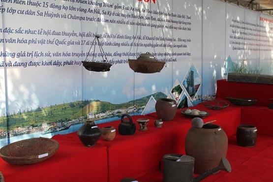 Những đồ dùng, sinh hoạt hàng ngày của cư dân Lý Sơn ngày xưa được trưng bày để giới thiệu cho du khách hiểu thêm về đời sống của người dân nơi đây