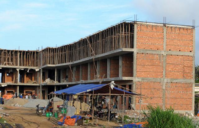 Một công trình xây dựng sai phạm ở Lý Sơn.