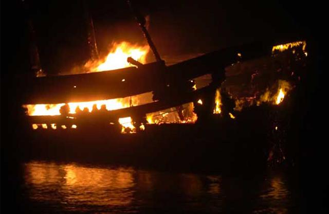 Một trường hợp tàu cá của ngư dân Quảng Ngãi bị nạn.