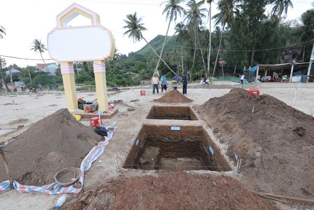 Di tích khảo cổ suối Chình tại xã An Hải, huyện Lý Sơn (Ảnh Đoàn Ngọc Khôi)