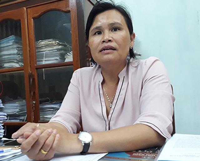 Bà Phạm Thị Hương - Phó Chủ tịch UBND huyện Lý Sơn.