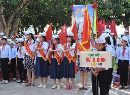 Học sinh trên đảo Lý Sơn
