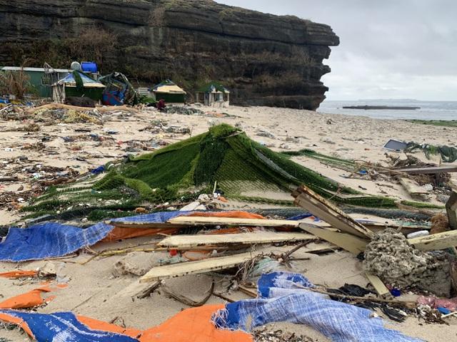 Hạ tầng du lịch Lý Sơn thiệt hại nặng do mưa bão