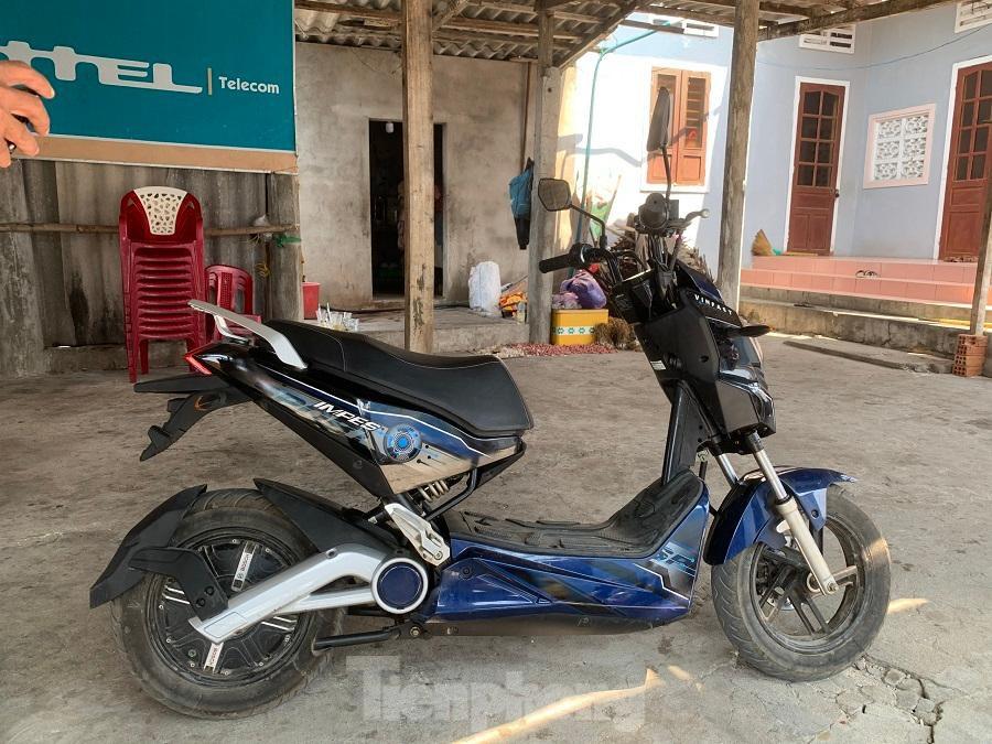 Xe máy điện của Tập đoàn Vingroup tặng cho người dân.