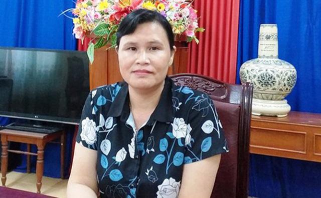 Phó Bí thư Huyện uỷ Lý Sơn Phạm Thị Hương.