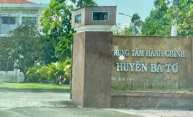 Huyện Ba Tơ là một trong những địa phương còn nợ đầu tư công lớn.