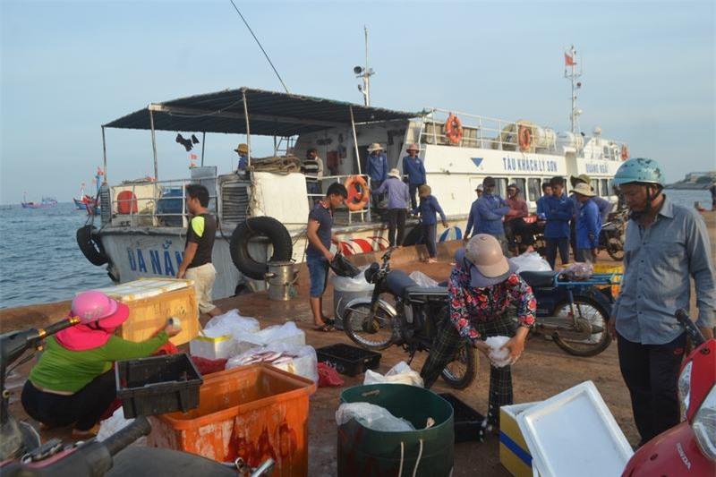 Hải sản sau khi được cung cấp về các chợ trên đảo, thì một phần cũng được chuyển vào đất liền đưa đi tiêu thụ khắp mọi nơi.