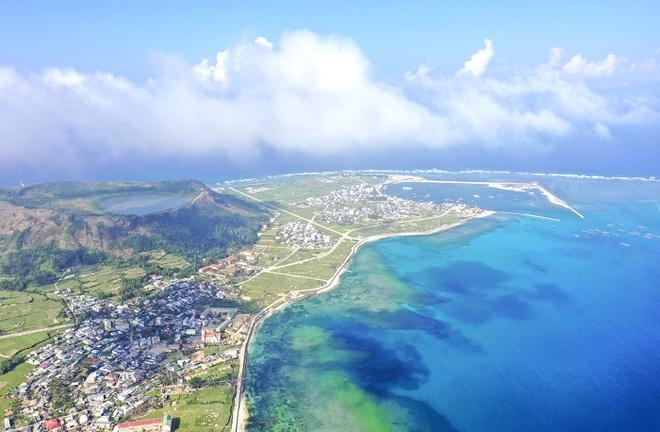 Dấu tích miệng núi lửa có niên đại hàng triệu năm ở huyện đảo Lý Sơn.