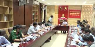 Chủ tịch UBND tỉnh Quảng Ngãi ĐẶNG VĂN MINH làm việc với UBND huyện Lý Sơn về tình hình phát triển kinh tế- xã hội.