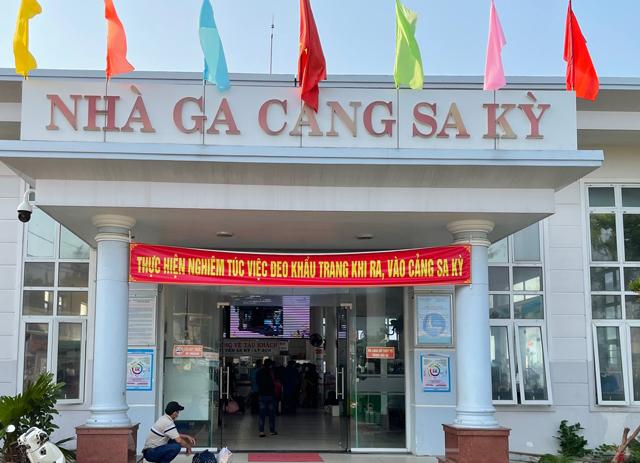 Cảng Sa Kỳ, xã Bình Châu, huyện Bình Sơn, nơi xuất phát đi ra đảo Lý Sơn.